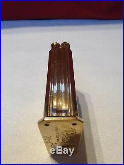 Briquet Dupont Jeroboam essence art Deco vintage motif godron