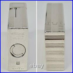 Briquet Dupont Paris small lighter Silver. P art déco-gaz-Feuerzeug-n°1H1DK94