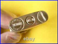 Briquet à essence argent Art Deco Colibri Kick start Lighter 1929 feuerzeug