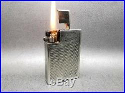 Briquet ancien Dunhill London Savory essence petrol lighter art deco feuerzeug