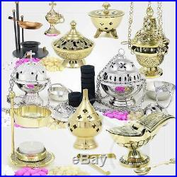 Brûle encens cuivre jaune de Jeu d'Encensoir fait à la main encensoir d'église a