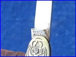COUTEAU ANCIEN / Old knife ART DECO ISSARD JOLIE & RARE / Nice & Rare