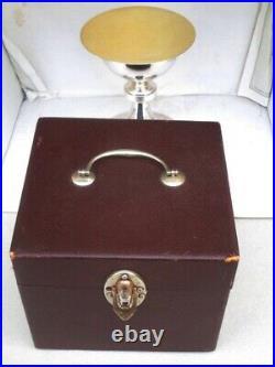 Calice Et Sa Patene Argent Massif 950 Vermeil Albert Schwartz Epoque Art Deco