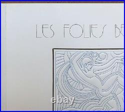 Carte Art Déco Folies Bergère Graufrage Patrick Lionnet ap Maurice Picaud, Pico