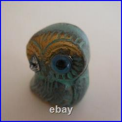 Chouette hibou sculpture miniature bronze vintage art déco design XXe N4448