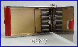 Cigarette case vintage ladies miror enamel art deco