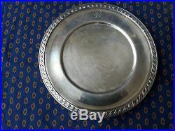 Compagnie Sud Atlantique Plat sur pied métal argenté CHRISTOFLE Art Déco 1931