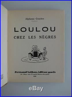 Crozière, Bruller, Vercors, EO, 1929, Loulou, Bel enfantina Art Déco, Afrique