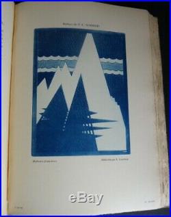 DE CRAUZAT RELIURE française 1900-1925 ART NOUVEAU ART DECO LIVRE 2 VOL E. O. N°