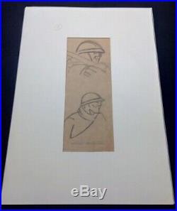Dessin Original Frères Joel & Jan Martel avec cachet de l'atelier WW1 Art Déco
