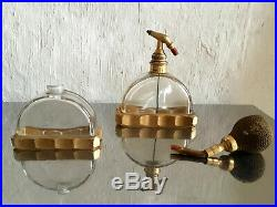 Deux flacons Baccarat France art deco 1925 Sue et Mare parfum