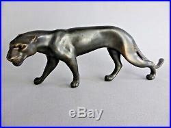 Elegant Jaguar Art Deco En Bronze D'art Felin De Toute Beaute Panther Jugenstijl