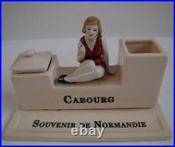 Encrier Ecritoire Baigneuse Normandie Cabourg Style Art Deco Style Art Nouveau