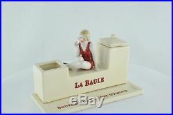 Encrier Ecritoire Figurine Baigneuse Normandie La Baule Style Art Deco Porcelain