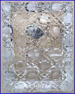 Encrier Porte Plume Art Déco Cristal Argent Poinçon Orfèvre Auguste Leroy 1910s