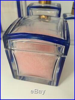 Enssemble flacons de parfum cristal signé JL art deco