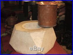 Etonnant Cendrier de térasse restaurant, Bistrot en pierre époque art déco 1930