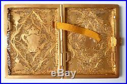 Étui à cigarettes ARGENT Portugal Armoiries couronne blason Ancien silver box