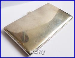 Étui cigarettes ARGENT massif Art Deco Zimmerman 1938 silver cigaret box 230 g