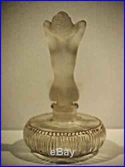 Flacon Parfum Je N'ose De Marèze Femme Nue Art Deco Style Lalique