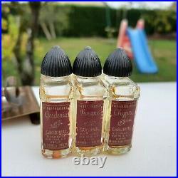 Flacon parfum très ancien miniature ensemble Cardinal vintage art deco