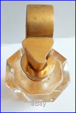 Flacon vaporisateur de parfum cristal BACCARAT  Art Deco bottle perfume
