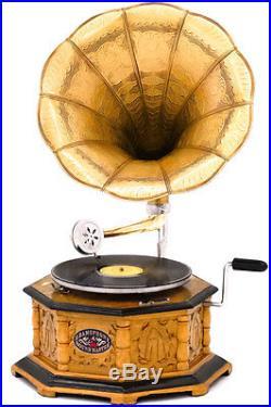 Gramophone Phonographe Style Ancien Art Nouveau Deco Fonctionnel Grammophone