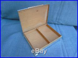 Grand Coffret Boite Etui A Cigarettes Art Deco De Salon En Argent 925 470grs