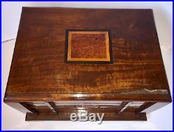 Grand coffret Art Déco 1930, boite de rangement couture, courrier, collection