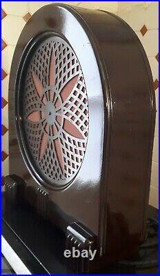 Haut parleur art deco philips en bakélite