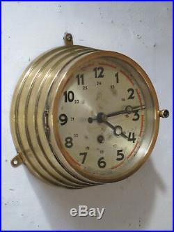 Horloge marine JUNGHANS w146 ship clock military collection borduhr