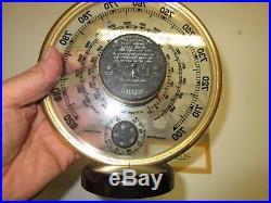 JAEGER FRANCE Barometre/Thermometre vers 1950 art decoTrés bon état/ NOTICE