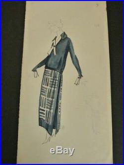 JEANNE LANVIN 15 DESSINS ORIGINAUX 1920s HAUTE COUTURE Stylisme MODE ART DECO