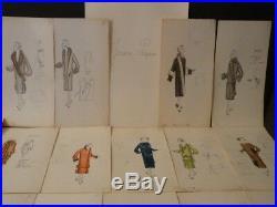 JEANNE PAQUIN 16 DESSINS ORIGINAUX COULEURS HAUTE COUTURE 1920's MODE ART DECO