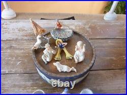 Jolie collection baigneuses et salerons art deco, porcelaine allemande, 10 pièces