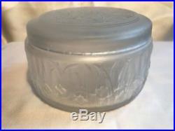 Julien Viard Boite A Poudre Art Deco Verre Opalescent Glass Vintage Powder Box