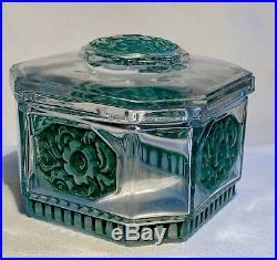 Julien Viard Boite A Poudre Art Deco Vintage Box Jar Perfume Art Nouveau 1920