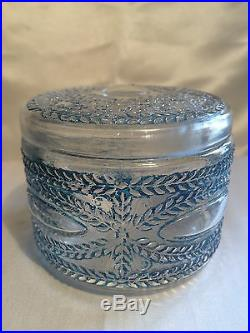 Julien Viard Boite A Poudre Art-deco 1920 Verre Glass Vintage Powder Jar Box