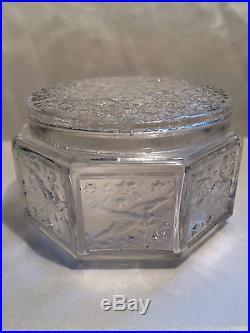 Julien Viard Boite A Poudre Hirondelles Art-deco 1930 Vintage Powder Box Jar