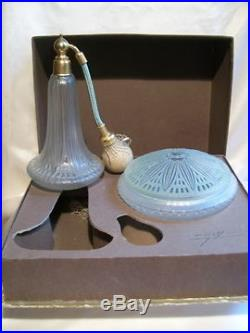 Julien Viard Coffret Flacon Parfum Boite Poudre Aux Lotus Art Deco Perfume Set