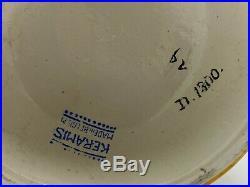 KERAMIS Art Déco vase CATTEAU, faïence à décor d'émaux craquelés D1300 F1085