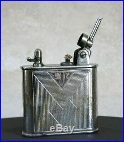 LANCEL AUTOMATIQUE, beau et grand briquet Lancel automatique, de bureau, ART DECO