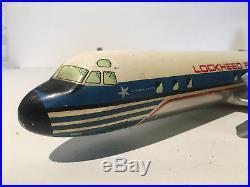 LOCKHEED PROP-JET ELECTRA Rare avion alu présentoir d'agence OSGAARD 1957