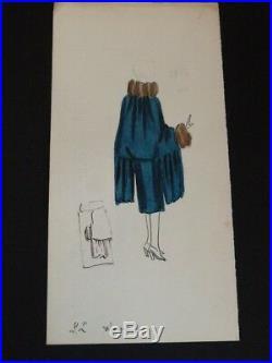 LUCIEN LELONG 73 DESSINS ORIGINAUX COULEUR 1920s HAUTE COUTURE MODE ART DECO