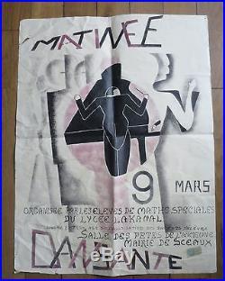 LYCEE LAKANAL SCEAUX rare affiche matinée dansante Maths Spéciales Art Déco