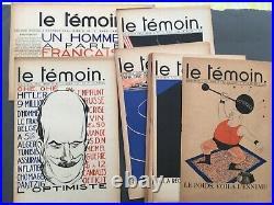Le Témoin Paul Iribe Collection Complète Reliure tête série 1933/1935 Art déco