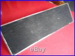 Le plus grand des encriers Jacques ADNET chrome & verre 58x18,5cm Poids 3,2kgs