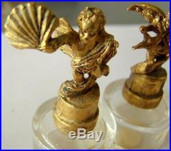 Lot 3 Flacon De Parfum Angelot Bronze Art Deco Made In France Vintage