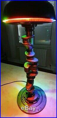 Luminaire déco desing meuble de métier plaque émaillée industrielle Loft art
