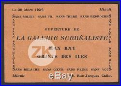 MAN RAY Galerie Surréaliste André BRETON Tual OCEANIE Objets des Iles Flyer 1926